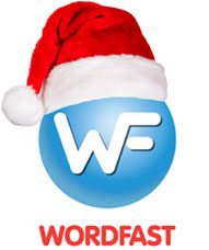 Wordfast santa hat logo